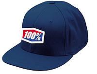 "Кепка Ride с логотипом 100% ""ICON"" 210 Fitted (синяя) мото"