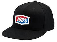 "Кепка Ride с логотипом 100% ""ICON"" 210 Fitted (черная) мото"
