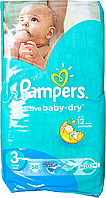 Підгузки Pampers Active Baby-Dry Розмір 3 (Midi) 5-9 кг, 58шт