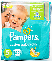Підгузки Pampers Active Baby-Dry Розмір 5 (Junior) 11-18 кг, 42 шт