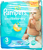 Підгузки Pampers Active Baby-Dry Розмір 3 (Midi) 5-9 кг, 90шт