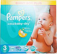 Підгузки Pampers Active Baby-Dry Розмір 3 (Midi) 5-9 кг, 126шт