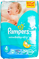Підгузки Pampers Active Baby-Dry Розмір 4 (Maxi) 8-14 кг, 76 шт