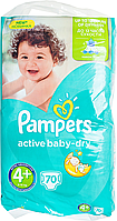 Підгузки Pampers Active Baby-Dry Розмір 4+ (Maxi+) 9-16 кг, 70шт