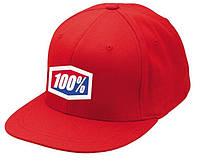 "Кепка Ride с логотипом 100% ""ICON"" 210 Fitted (красная) мото"