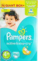 Підгузки Pampers Active Baby-Dry Розмір 4+ (Maxi+) 9-16 кг, 96шт