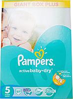 Підгузки Pampers Active Baby-Dry Розмір 5 (Junior) 11-18 кг, 87 шт
