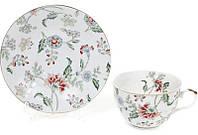 """Чайный набор """"Альпийский сад"""" чашка 250мл с блюдцем"""