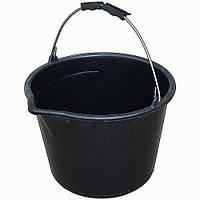 Ведро строительное с носиком 5 л черное