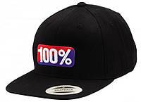 """Кепка Ride с логотипом 100% """"OG"""" Classic SnapBack (черная) мото"""