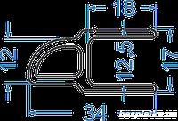 Алюминиевый лодочный оконечный профиль 34х17 АД31Т5