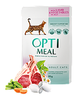 Optimeal паучи з телятиною в журавлинному соусі для кішок 85г*12шт, фото 1