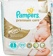 Підгузки Pampers Premium Care New Born Розмір 1 (Для новонароджених) 2-5 кг, 22 шт