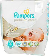 Підгузки Pampers Premium Care New Born Розмір 2 (Для новонароджених) 3-6 кг, 22 шт