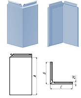 Фасадная кассета KП-200У угловая со скрытым креплением