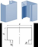 Фасадная кассета KП-200П П-образная со скрытым креплением