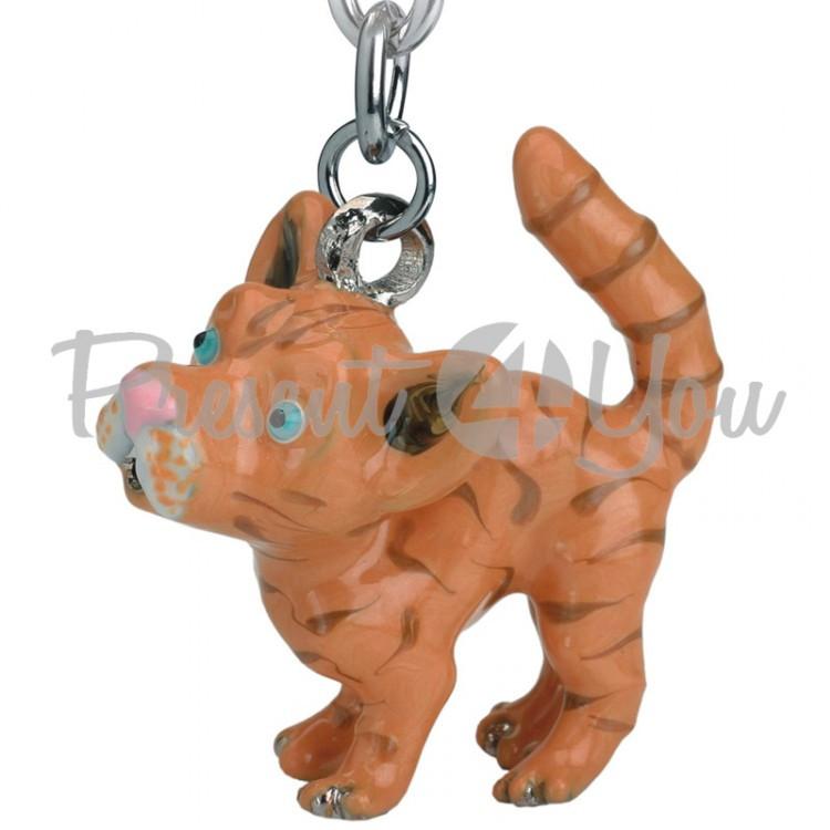 Брелок-фигурка для ключей из металла,Англия  «Рыжая кошка»