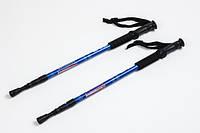 Треккинговые палки регулируемые Hop-Sport Everest blue