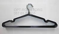 Вешалка-плечики  металлическая в силиконе,чёрная 40 см.