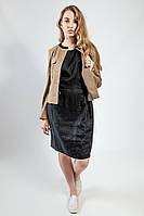 Пиджак женский короткий весна-осень кофейный молодежный S.Oliver