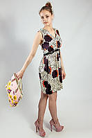 Платье летнее натуральное бежево-коричневое Deby-Debo