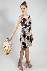 Женское платье летнее натуральное бежево-коричневое Deby-Debo, фото 3