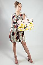 Женское платье летнее натуральное бежево-коричневое Deby-Debo, фото 2