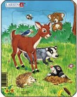 Пазли Larsen Домашні тварини №1 серія Міні M1-1