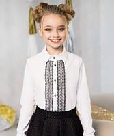 Школьная блуза для девочки Кружево-2 (р.134)