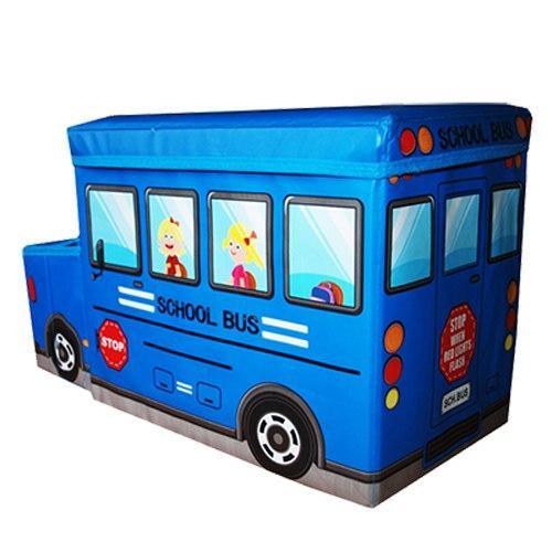 Пуф-ящик для игрушек Автобус синий