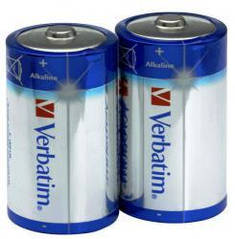Батарейки D Verbatim (49923) Alkaline  (за блистер 2шт.)