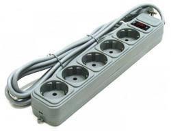 Сетевой удлинитель с выключателем 1,8 м Gembird SPG5-G-6G