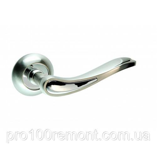 Ручка дверная на розетке NEW KEDR R10.064-AL-SN/CP