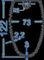 Алюминиевая мачта 122x73