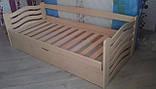 Ліжко дитяче з натурального дерева з підйомнім механізмом Колобок Дрімка, фото 3