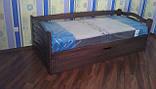 Ліжко дитяче з натурального дерева з підйомнім механізмом Колобок Дрімка, фото 6