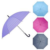 Зонт-трость полуавтомат ПВХ Клетка