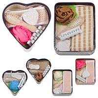 Набор подарочный банный в лукошке Сердце, 6 предметов