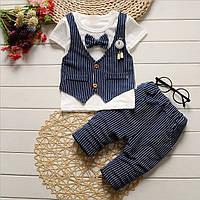 Комплект летний детский футболка и бриджи для мальчика.