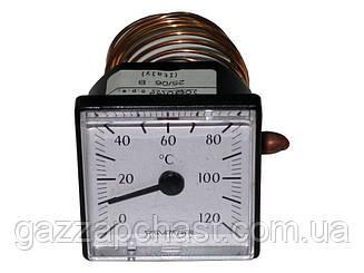 Термометр капиллярный квадратный Ø 45 мм, 0-120ºС (042121)