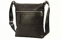 Кожаная мужская сумка Tom Stone 414 черная