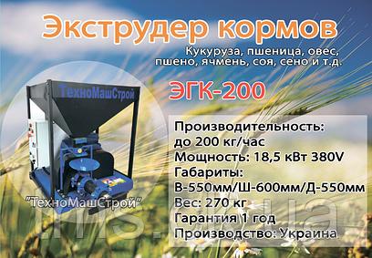 Экструдер кормов ЭГК-200 (18,5 кВт)
