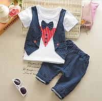 Детский комплект летний  для мальчика футболка и бриджи.