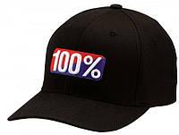 "Кепка Ride с логотипом 100% ""OG"" FlexFit (черная) мото"