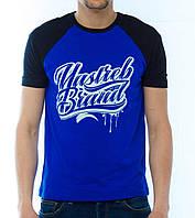 Футболка с принтом «Yastreb Brand» черно-синий