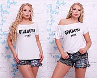 женская футболка больших размеров в разных цветах