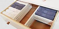 Органайзер для одежды, перегородки для ящика Expandable Dresser Drawer Dividers