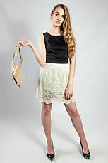 Женский топ майка футболка черная короткая  VILA, фото 3