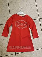 Детское платье, туника на девочку красная D&G 3-7 лет