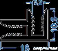 Рекламный профиль алюминиевый 25х17 АД31Т5 анодированный.